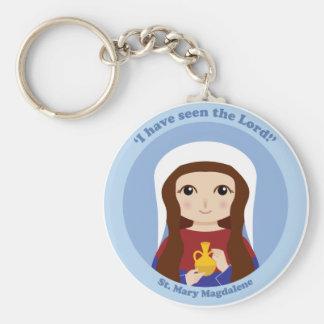St. Mary Magdalene Basic Round Button Key Ring