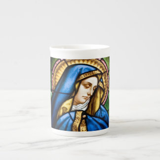 St. Mary Stained Glass Bone China Mug