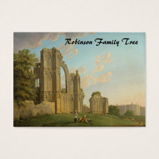 St. Mary's Abbey, York, England circa 1778 Business Card