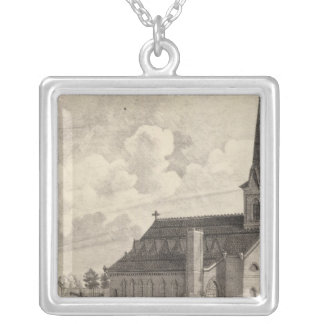 St Mary's Catholic Church Silver Plated Necklace
