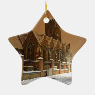 St Mary's Church Acton. Ceramic Star Decoration