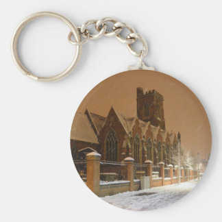 St Mary's Church Acton. Basic Round Button Key Ring