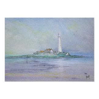 St Mary's Lighthouse England Invitation