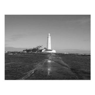 St Mary's Lighthouse England Post Card