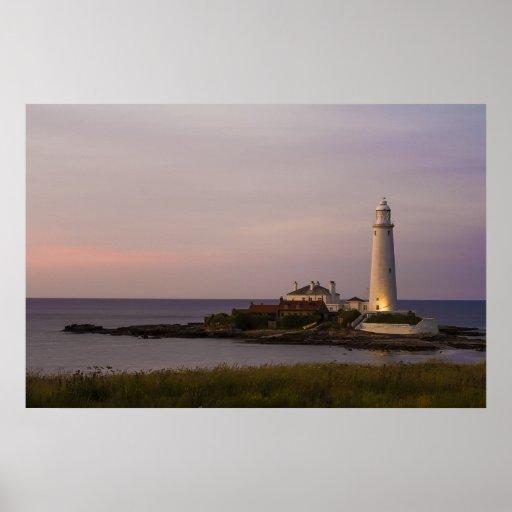 St.Marys Lighthouse, Whitley Bay Print