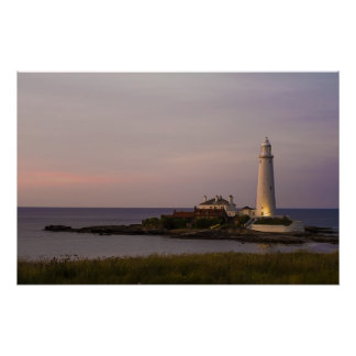 St.Marys Lighthouse, Whitley Bay Print