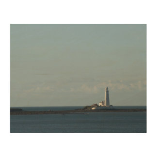 St. Mary's Lighthouse Wood Wall Art