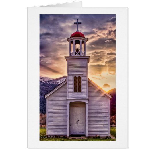 St. Mary's Mission at Sunset Card