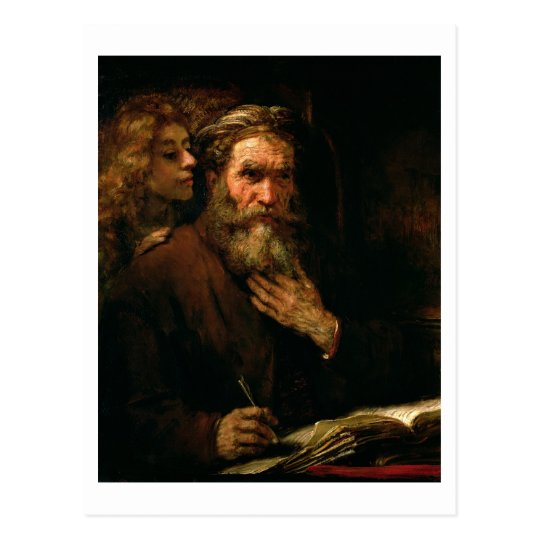 St. Matthew and The Angel, 1655-60 (oil on canvas) Postcard