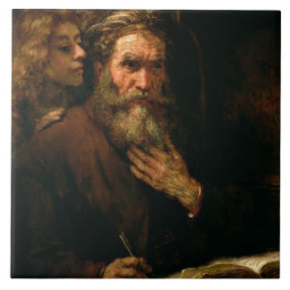 St. Matthew and The Angel, 1655-60 (oil on canvas) Tile