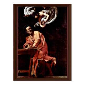 St. Matthew And The Angel By Michelangelo Merisi Postcard