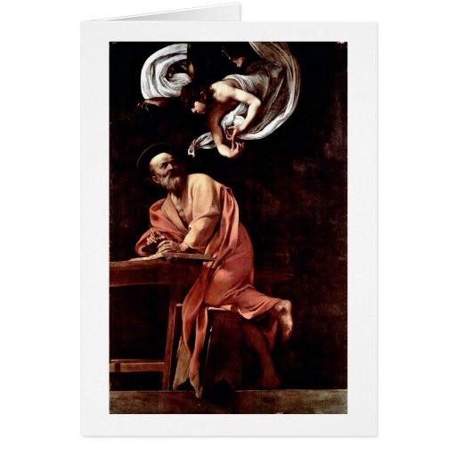 St.Matthew By Michelangelo Merisi Da Caravaggio Cards
