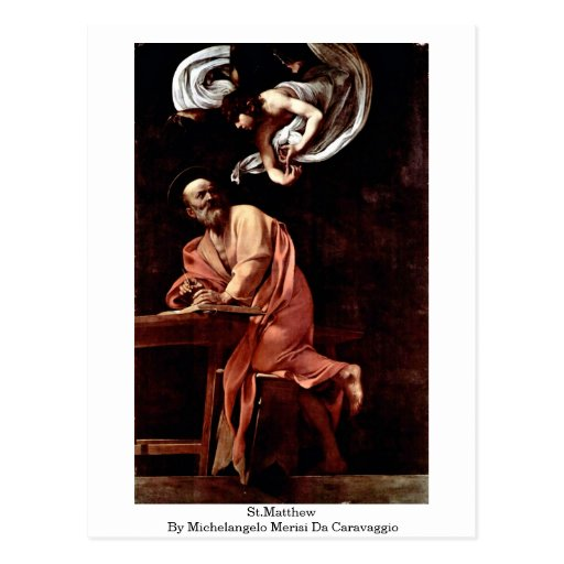 St.Matthew By Michelangelo Merisi Da Caravaggio Post Card