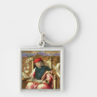 St. Matthew: Detail of Altarpiece Silver-Colored Square Key Ring