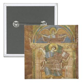 St. Matthew, from the Gospel of St. Riquier 15 Cm Square Badge