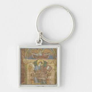 St. Matthew, from the Gospel of St. Riquier Silver-Colored Square Key Ring