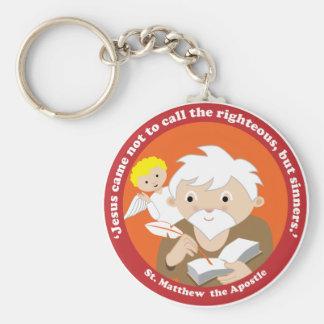 St. Matthew the Apostle Basic Round Button Key Ring