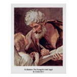 St.Matthew The Evangelist And Angel By Guido Reni Print