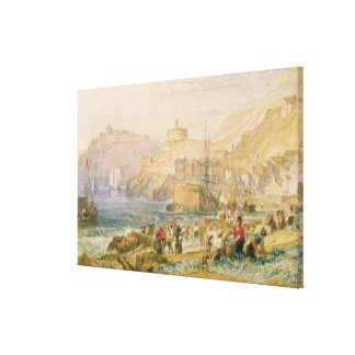 St. Mawes, Cornwall, c.1823 (w/c on paper) Canvas Print