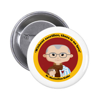 St. Maximilian Kolbe 6 Cm Round Badge