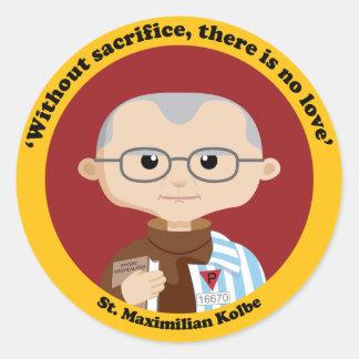 St. Maximilian Kolbe Classic Round Sticker