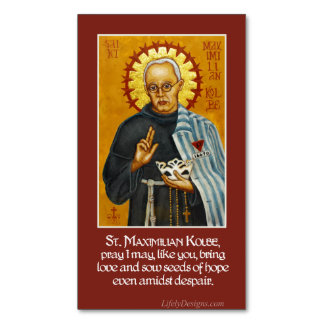 St. Maximilian Kolbe Icon Prayer Magnets (25 Pk)