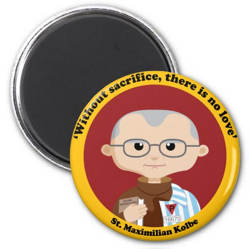 St. Maximilian Kolbe Refrigerator Magnet