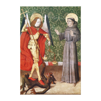 St. Michael and St. Francis of Assisi, c.1480 Gallery Wrap Canvas