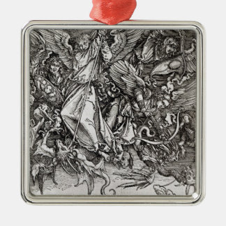 St. Michael and the Dragon, from a Latin Christmas Ornament