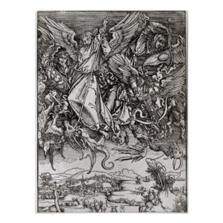 St. Michael and the Dragon, from a Latin Poster
