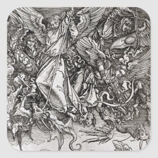 St. Michael and the Dragon, from a Latin Square Stickers