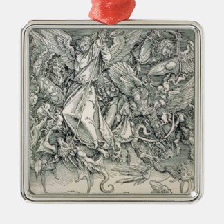St. Michael Battling with the Dragon Christmas Ornament