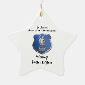 St. Michael Blessings to New Police Officer Christmas Ornament