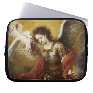 St Michael by Murillo Laptop Sleeves