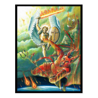 St.Michael Defeats the Devil Postcard