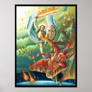 St.Michael Defeats the Devil Poster
