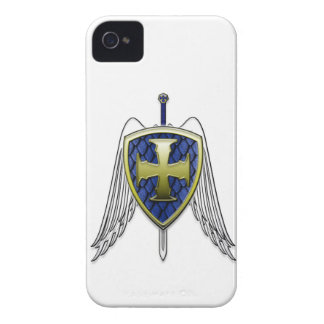 St Michael - Dragon Scale Shield iPhone 4 Case