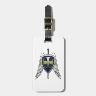 St Michael - Dragon Scale Shield Luggage Tag