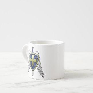 St Michael - Dragon Scale Shield 6 Oz Ceramic Espresso Cup