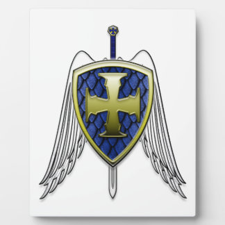 St Michael - Dragon Scale Shield Plaque