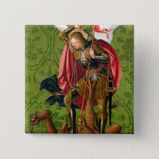 St. Michael Killing the Dragon 15 Cm Square Badge