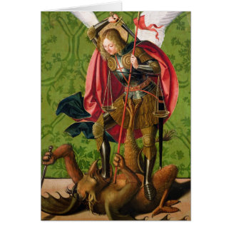 St. Michael Killing the Dragon Card