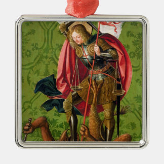 St. Michael Killing the Dragon Christmas Ornament