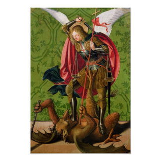 St. Michael Killing the Dragon Poster