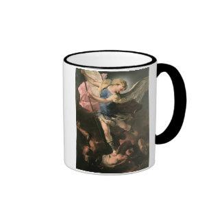 St. Michael, Luca Giordano (Fa Presto) Ringer Mug