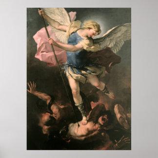 St. Michael, Luca Giordano (Fa Presto) Poster
