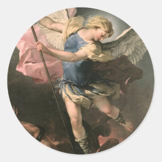 St. Michael, Luca Giordano (Fa Presto) Stickers