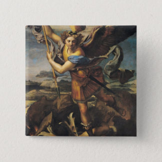 St. Michael Overwhelming the Demon, 1518 15 Cm Square Badge
