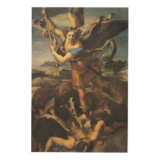 St. Michael Overwhelming the Demon, 1518 Wood Prints
