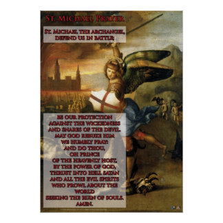 St. Michael Prayer Poster